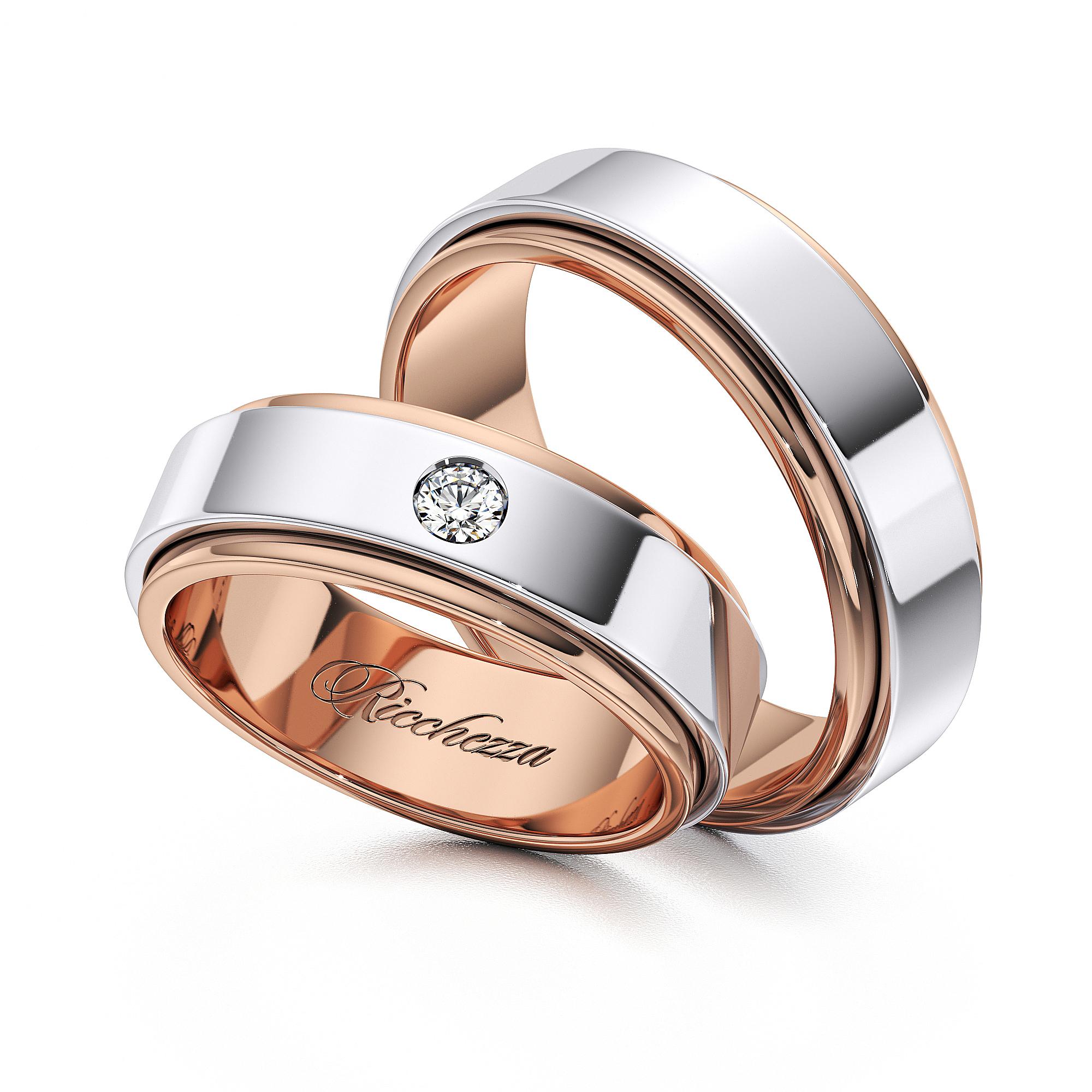 Обручальные кольца ERS49 — Ricchezza — ювелирные изделия 0a8bd992eb1