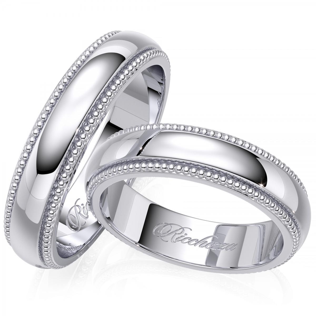 Обручальные кольца серебро картинки