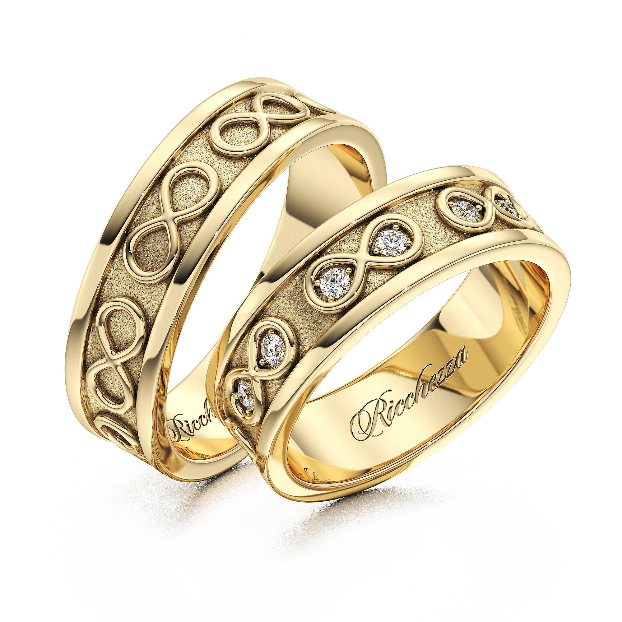 Обручальные кольца ERS60 — Ricchezza — ювелирные изделия 070a8412af6