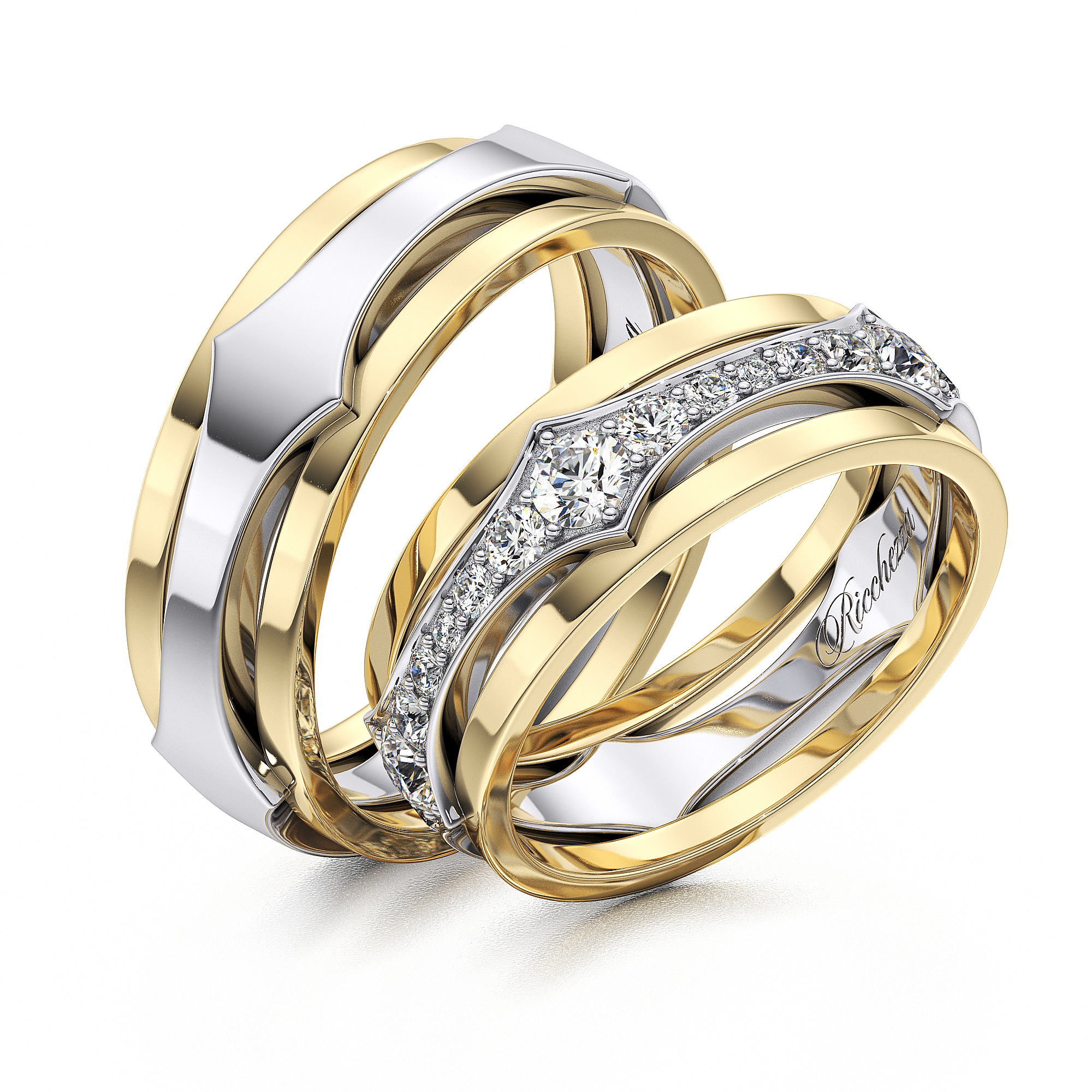 Главная Обручальные кольца Обручальные кольца ERS63. Цена за пару!    f13d0cbe4bb