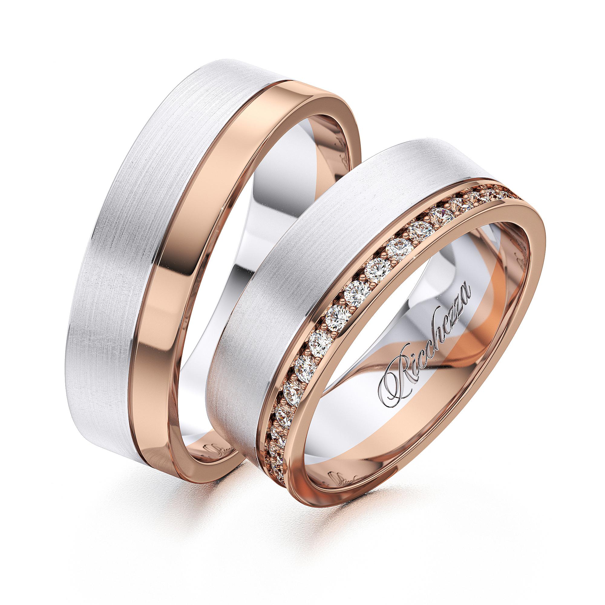 Обручальные кольца RS25 — Ricchezza — ювелирные изделия d6a1085d163