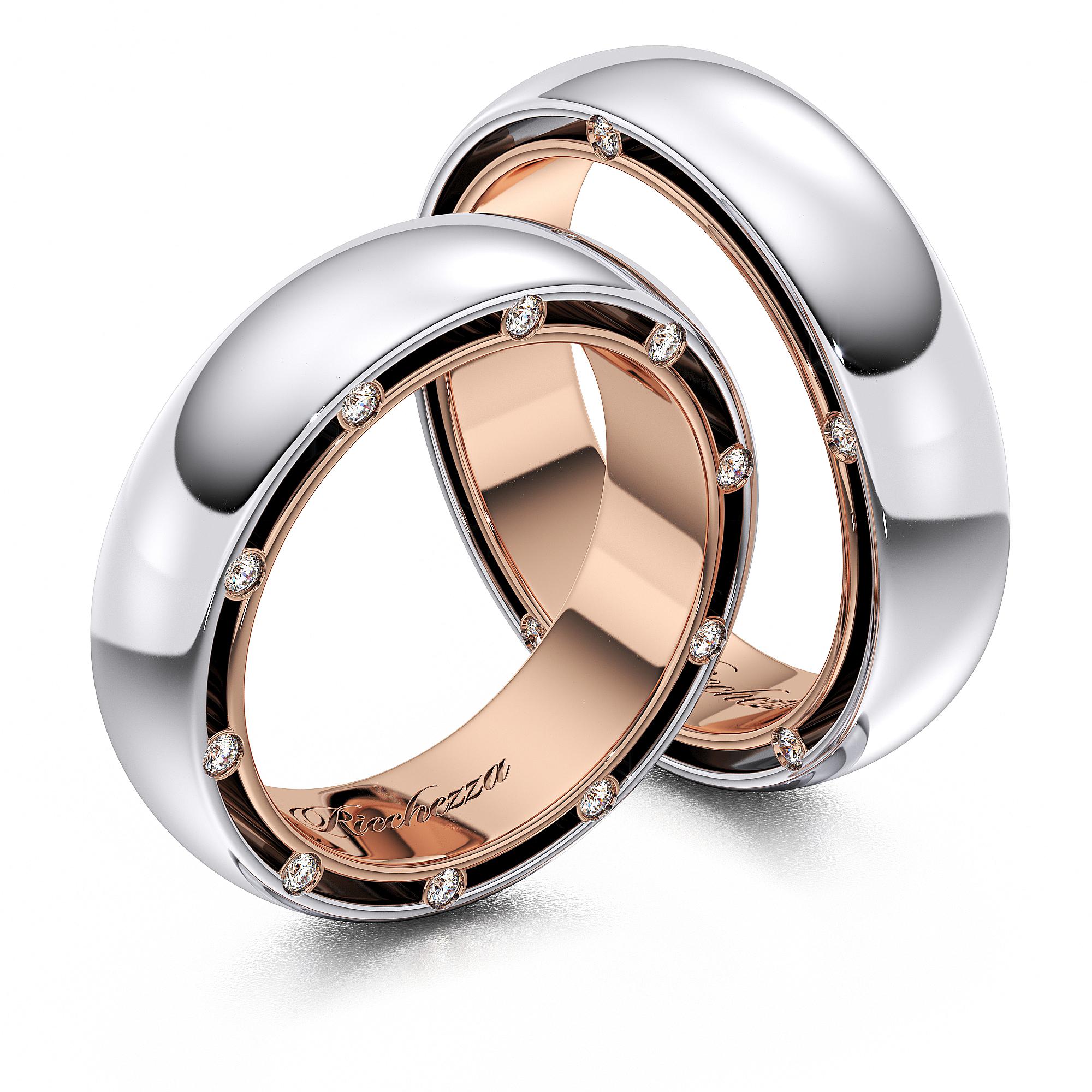 Обручальные кольца RS38 — Ricchezza — ювелирные изделия e405afab6bd