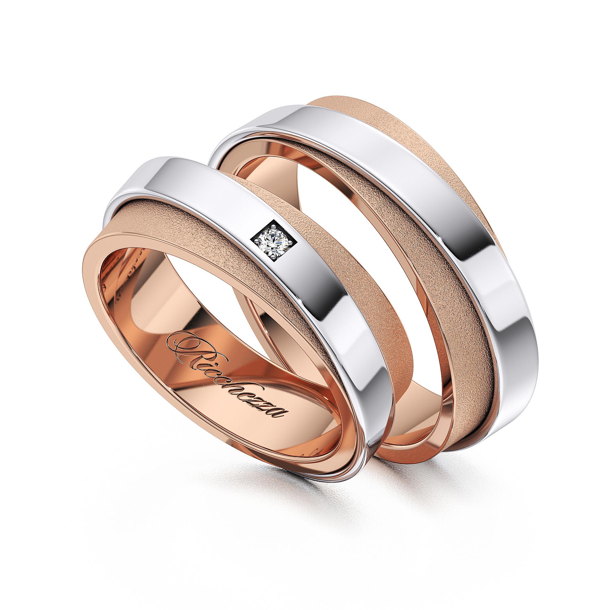 Обручальные кольца RS72 — Ricchezza — ювелирные изделия aeccd55c392