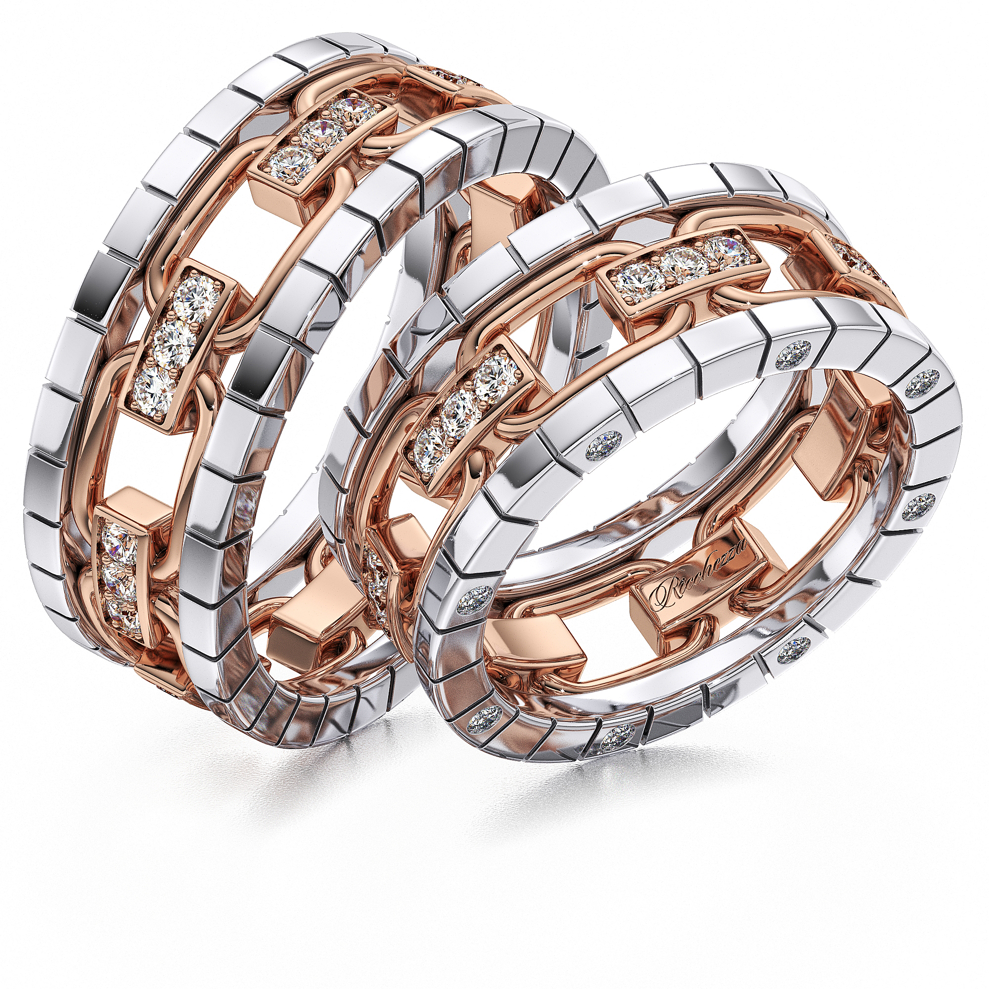 Обручальные кольца ERS72 — Ricchezza — ювелирные изделия cd2d22e0046