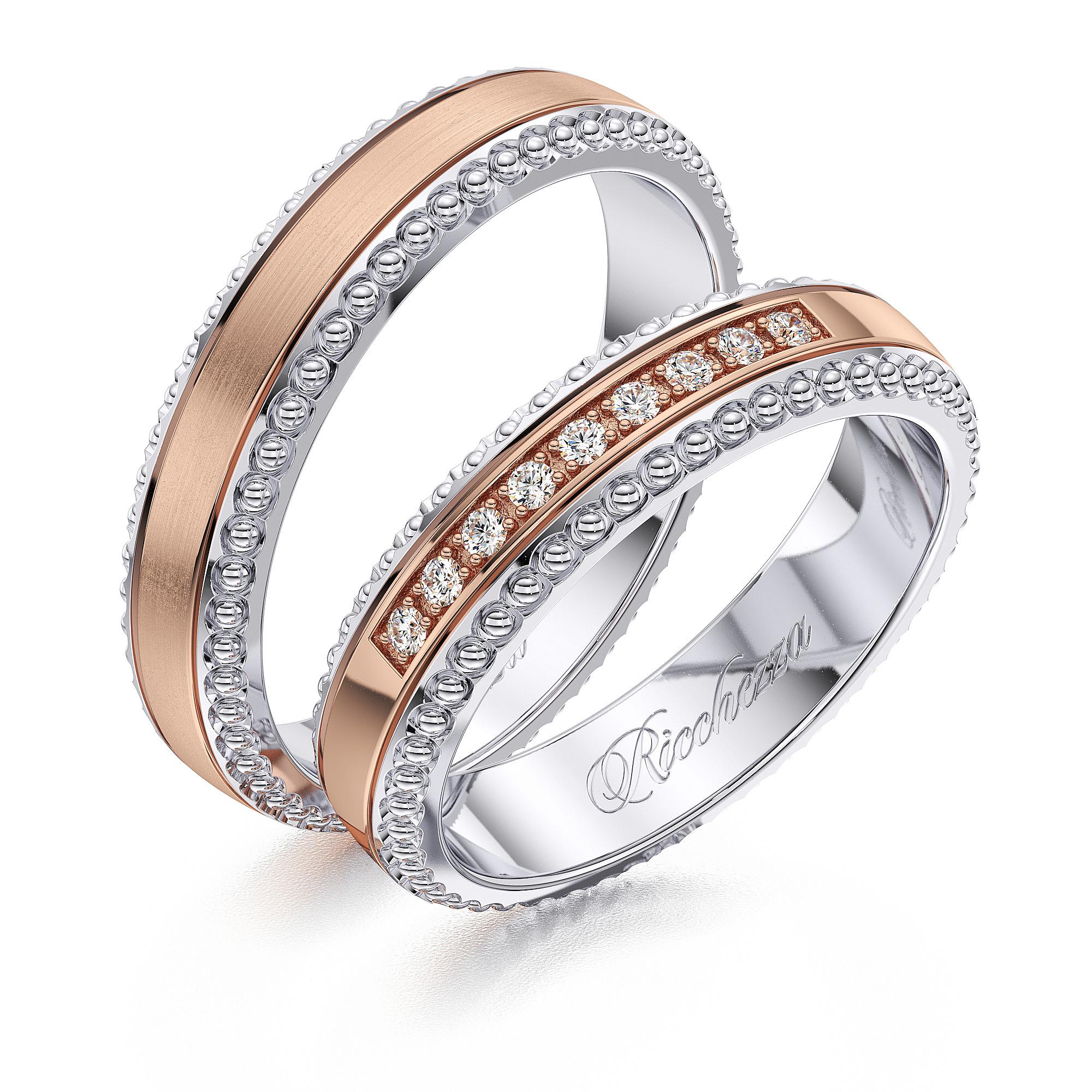 Обручальные кольца NR1806 — Ricchezza — ювелирные изделия 6de0e3ecce9